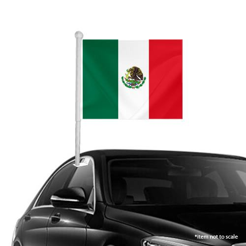 Mexican Window Clip-on Flag