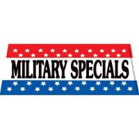 Military Specials windshield banner