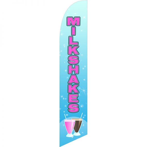 Milkshakes Feather Flag