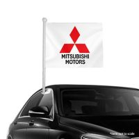 Mitsubishi Motors Window Clip-On Flag