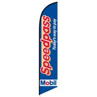 Mobil Speedpass feather flag