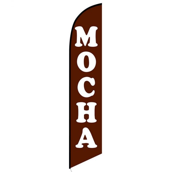 Mocha Feather Flag