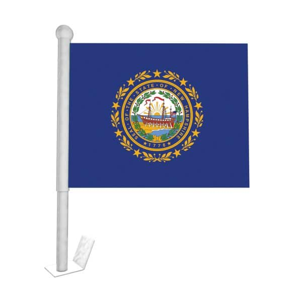 new hampshire state car flag