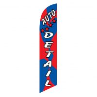 Auto Detail (red,blue) Feather Banner Flag