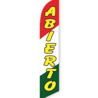 Abierto Feather Flag