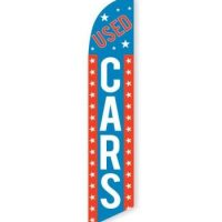 Used Cars (Red, White, Blue) Feather Flag