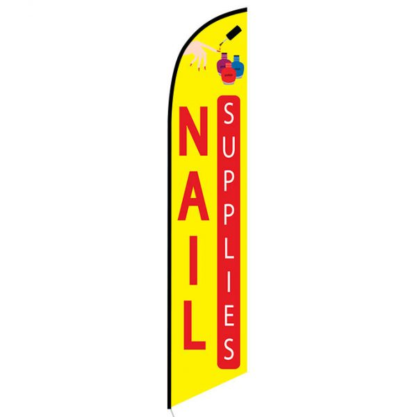 Nails supplies feather flag