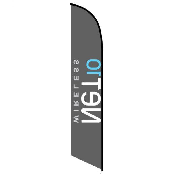 Net10 Wireless black Feather Flag