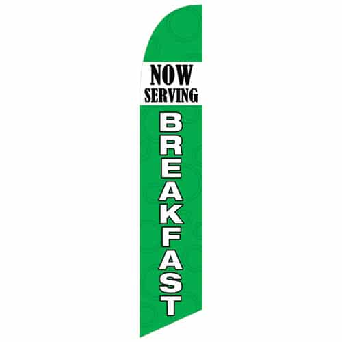 Now Serving Breakfast Flag