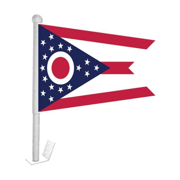 ohio state car flag