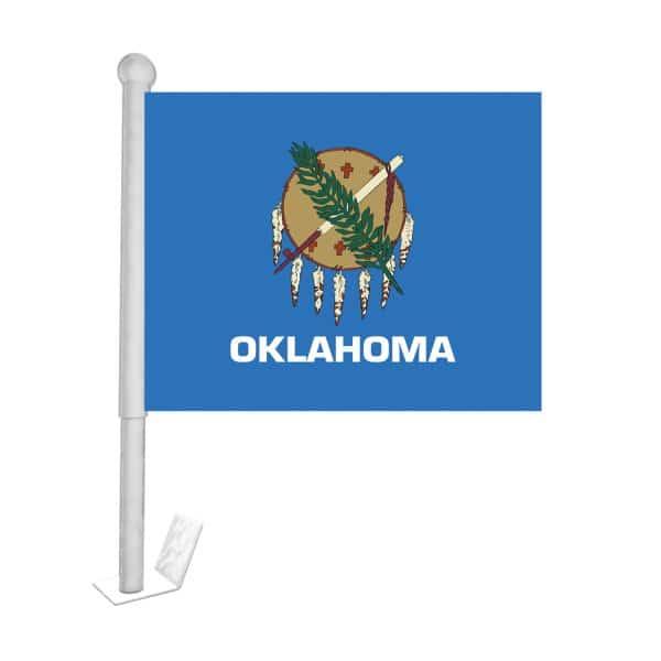 oklahoma state car flag