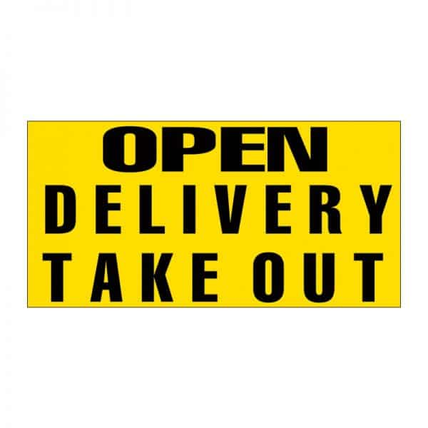 Open Delivery Take Out Vinyl