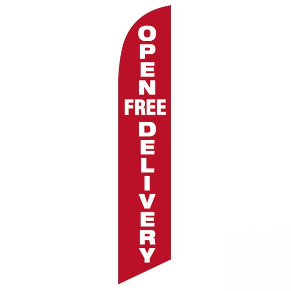 Open Free Delivery Feather Flag - FFN-99908