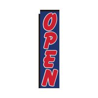 Open blue Rectangle flag