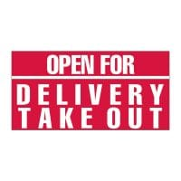 Open for Delivery Take Out Vinyl Banner