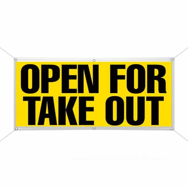 Open for Take Out Banner