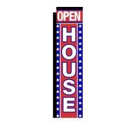 Open House Rectangle Banner Flag
