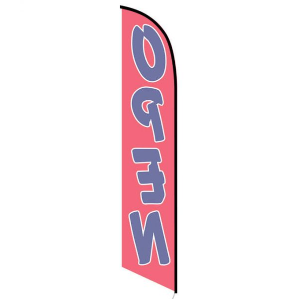 Open (red and blue) Feather Flag FFN-5061D back