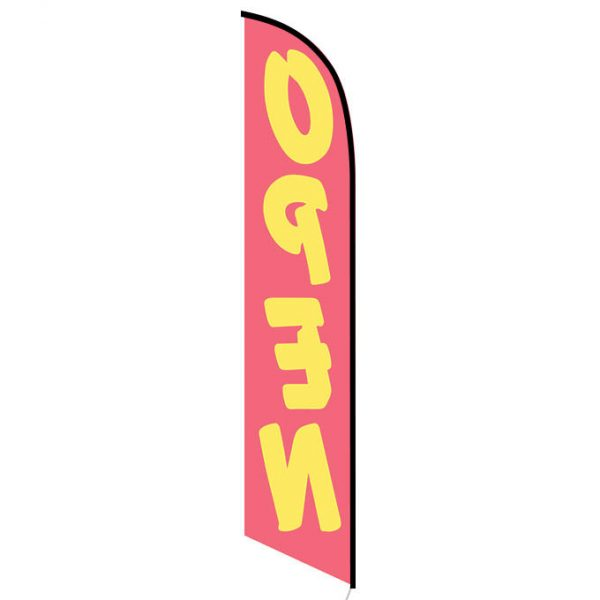 Open (red and yellow) Feather Flag FFN-5217 back
