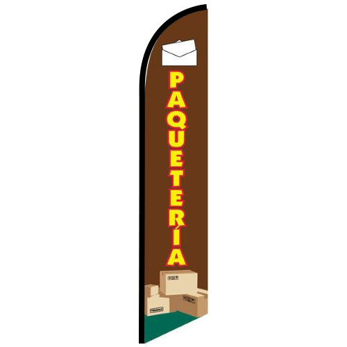 Paqueteria feather flag