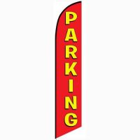 Parking feather flag