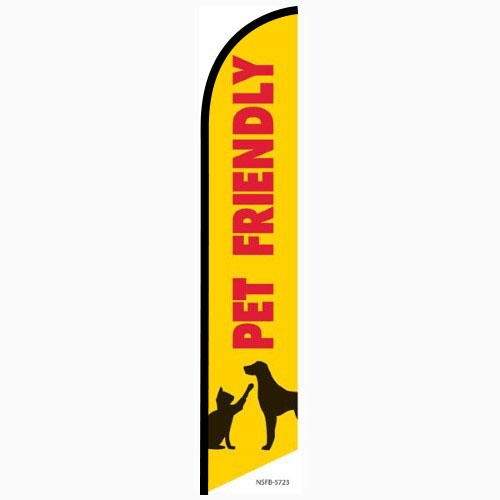 Pet Friendly feather flag