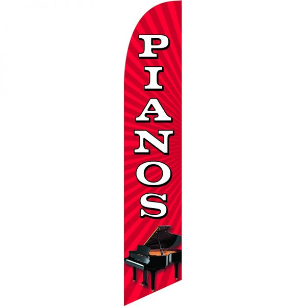 Pianos Feather Flag