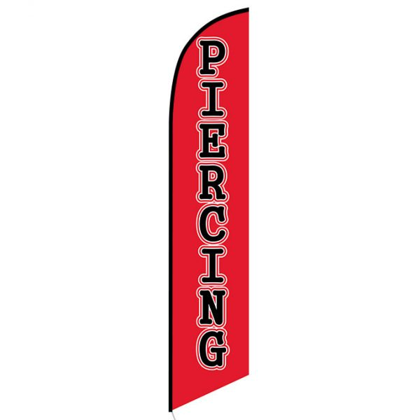 Piercing feather flag