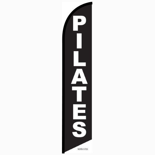 Pilates feather flag