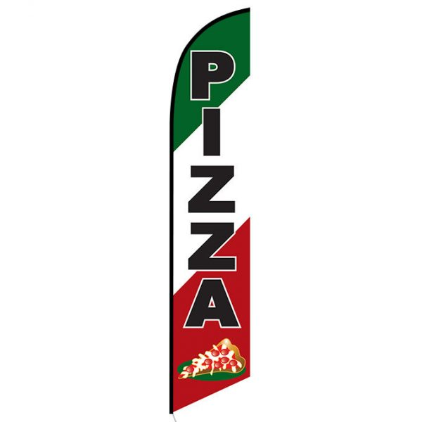 Pizza Feather Flag