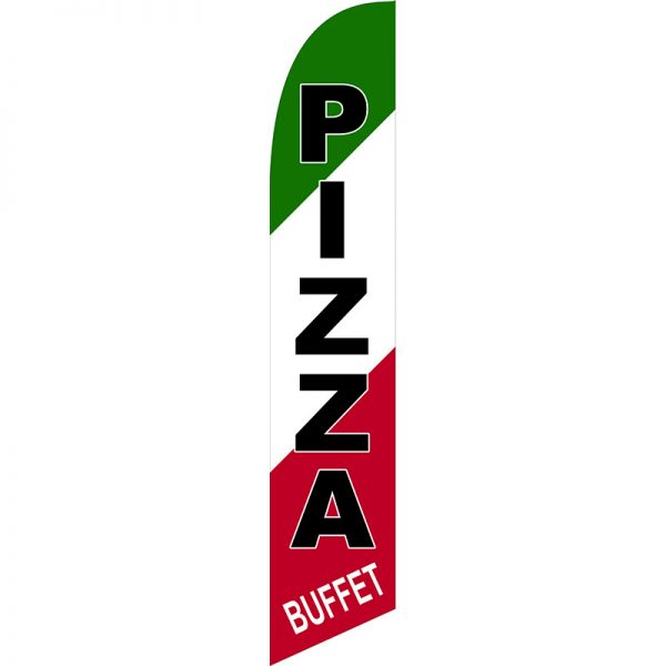 Pizza Buffet Feather Flag