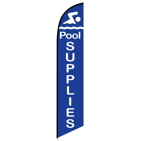 Pool supplies feather flag