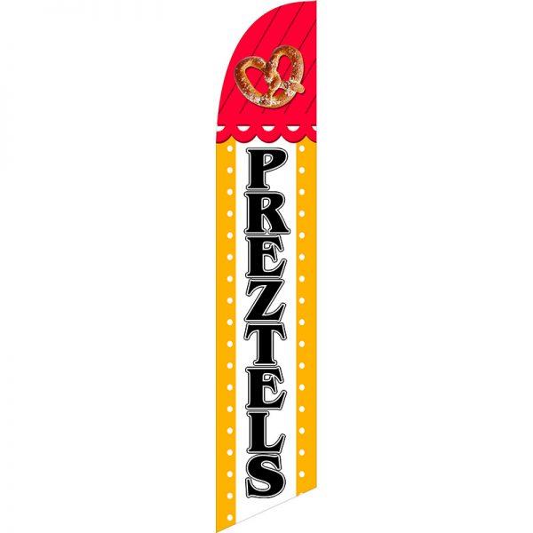 Pretzels Feather Flag