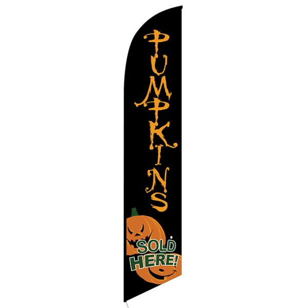Pumpkins Sold Here feather flag