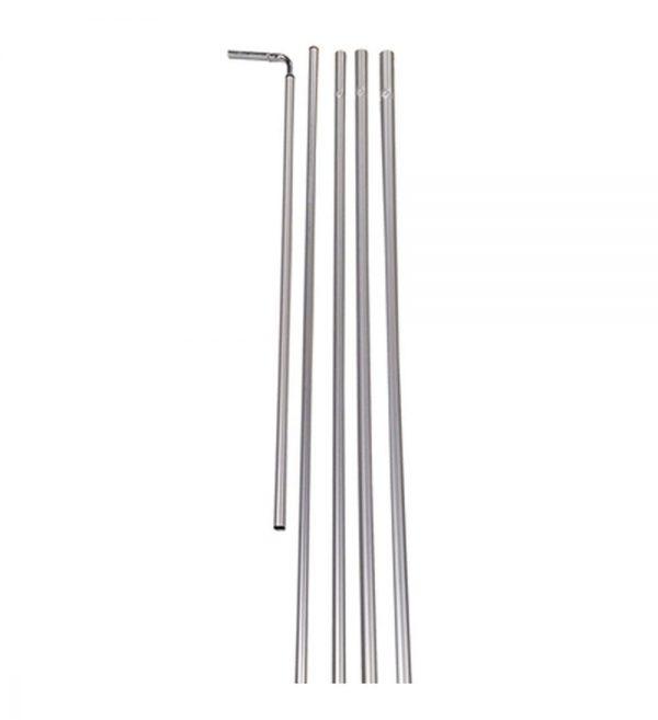 Rectangle Flag 5pc Aluminum Pole Kit