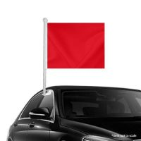 Solid Red Window Clip-on Flag