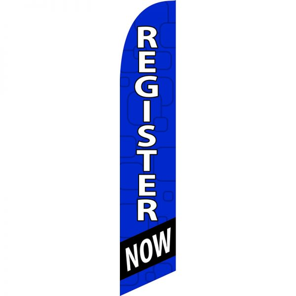 Register Now Feather Flag