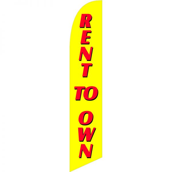 Rent To Own Yellow Feather Flag