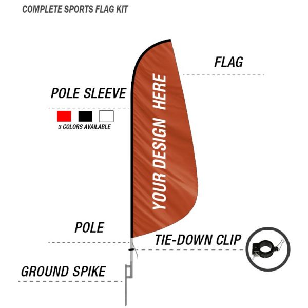sports feather banner flag ground spike kit swooper flag
