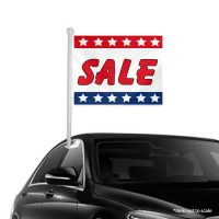 Sale Patriotic Window Clip-on Flags
