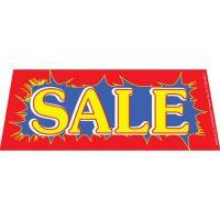 Sale Blue Red windshield banner