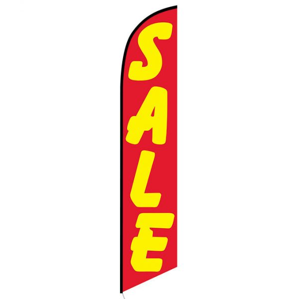 Sale (red and yellow) Feather Flag