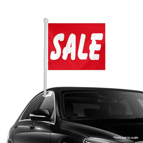 SALE red Window Clip-on Flags