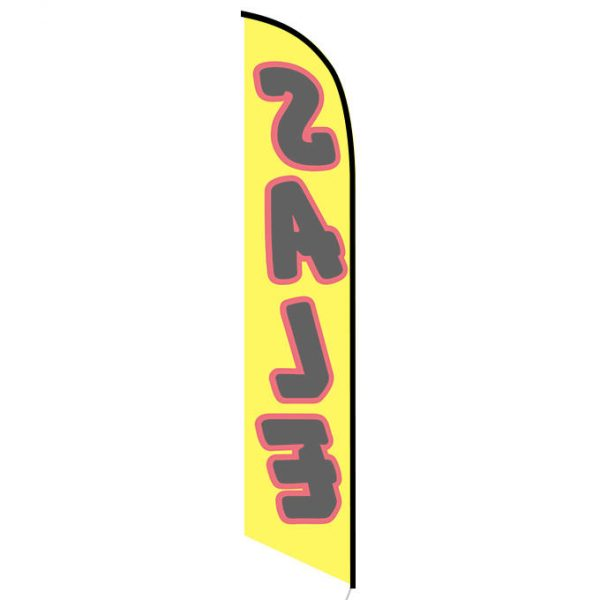 Sale (yellow black red) Feather Flag