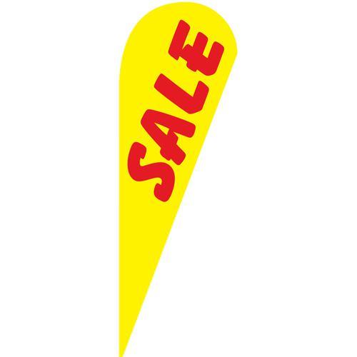 yellow Sale Teardrop Flag