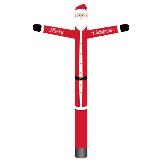 santa claus inflatable tube man