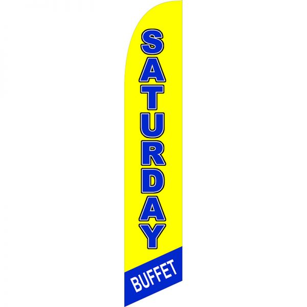 Saturday Buffet Feather Flag