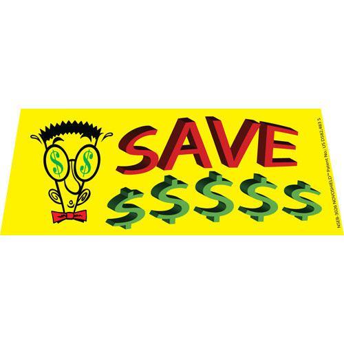 Save Money $$$ windshield banner