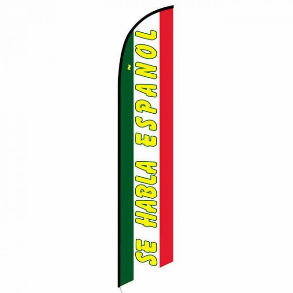 Se Habla Espanol feather flag