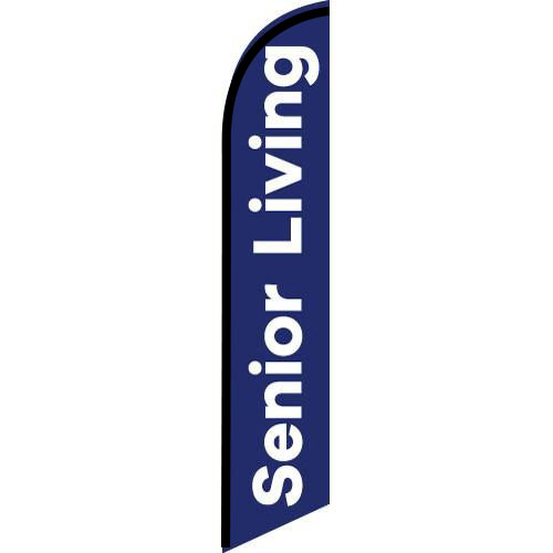 Senior Living feather flag